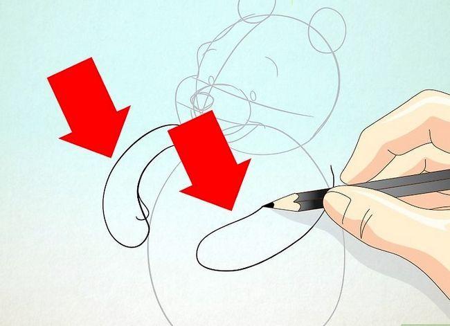 Prent getiteld Teken Winnie the Pooh Stap 10