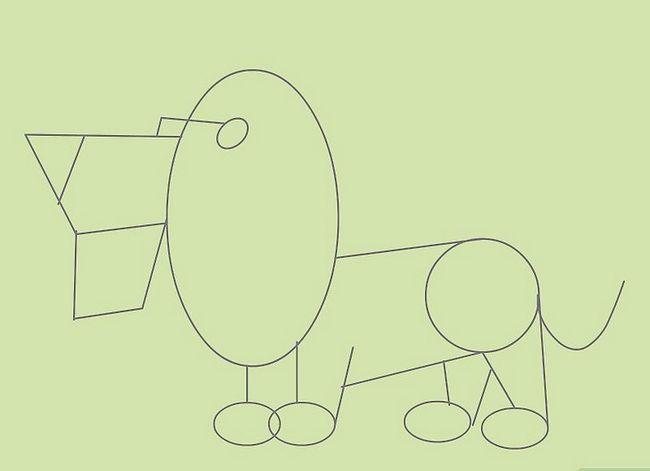 Prent getiteld Teken Cartoon Diere Stap 11