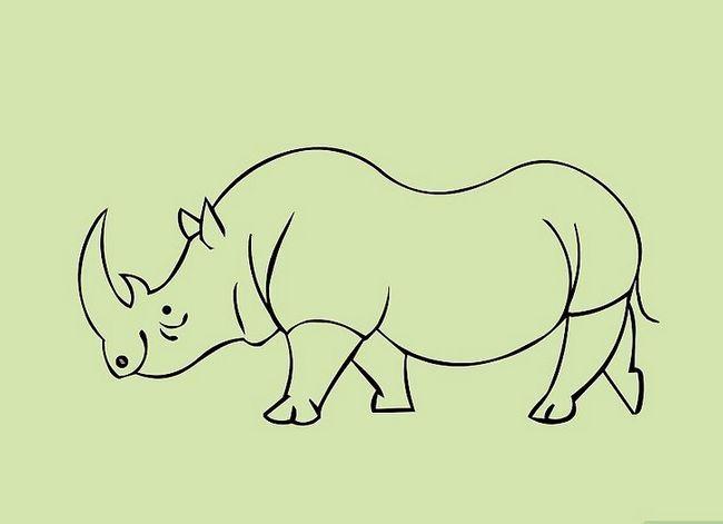Prent getiteld Teken Cartoon Diere Stap 26