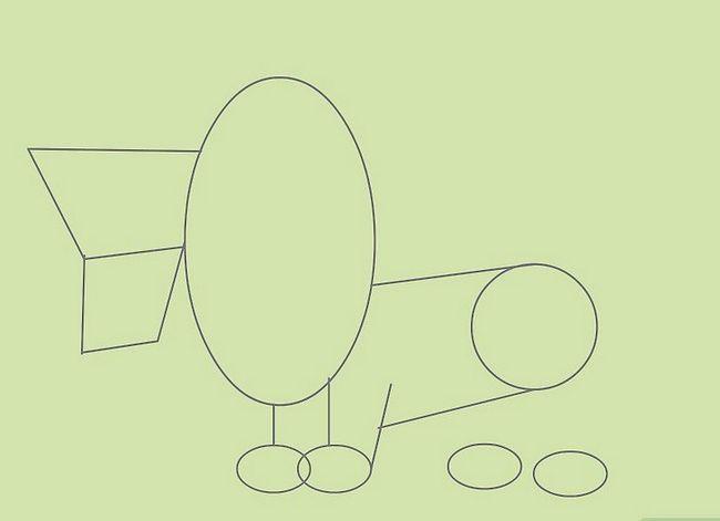 Prent getiteld Teken Cartoon Animals Stap 7