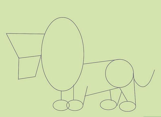 Prent getiteld Teken Cartoon Animals Stap 9