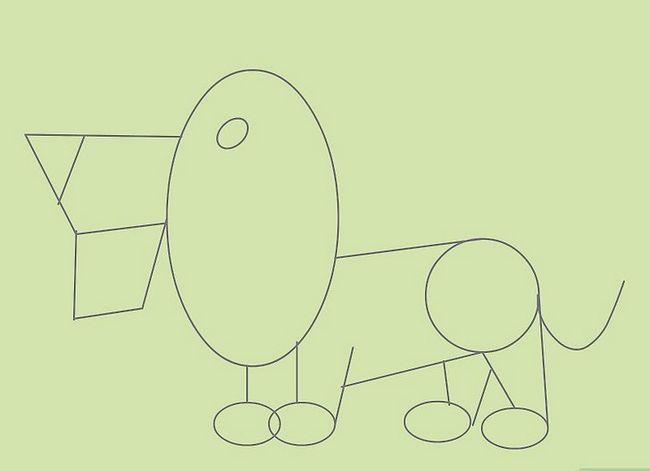 Prent getiteld Teken Cartoon Diere Stap 10