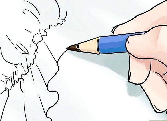 Prent getiteld Teken mode sketse Stap 12