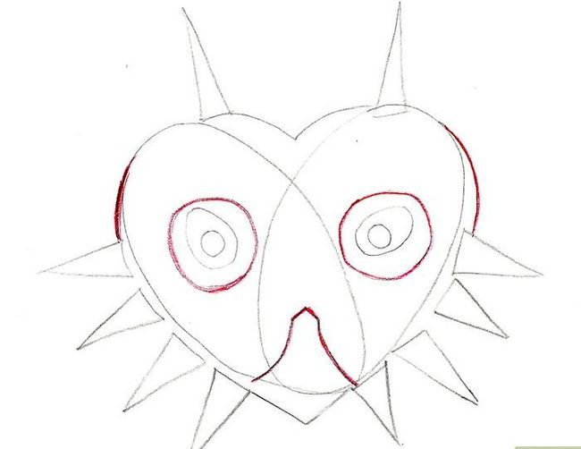 Prent getiteld Teken Majora`s Mask from the Legend of Zelda Step 5