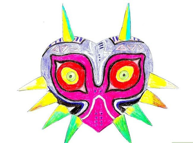 Prent getiteld Teken Majora`s Mask from the Legend of Zelda Step 8