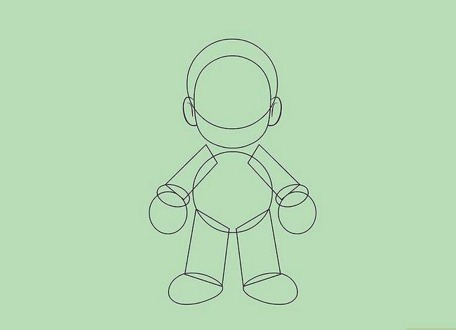 Prent getiteld Teken Mario karakters Stap 5