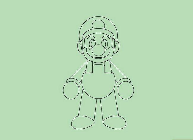 Prent getiteld Teken Mario karakters Stap 9