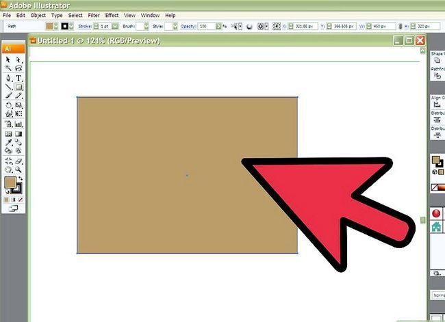 Prent getiteld Teken Stof in Adobe Illustrator Cs3 Stap 1