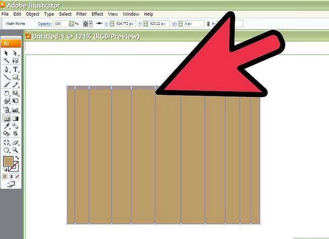 Prent getiteld Teken Stof in Adobe Illustrator Cs3 Stap 2