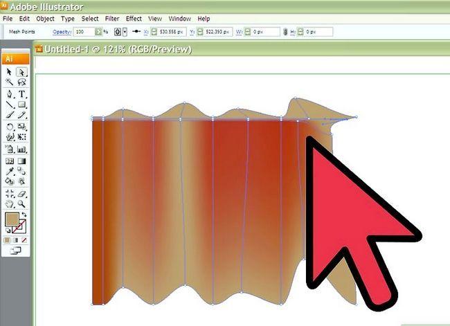 Prent getiteld Teken Stof in Adobe Illustrator Cs3 Stap 5