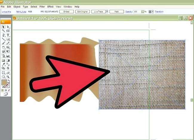Prent getiteld Tekenstof in Adobe Illustrator Cs3 Stap 6
