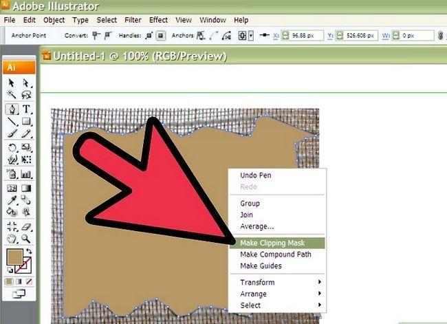 Prent getiteld Teken Stof in Adobe Illustrator Cs3 Stap 8