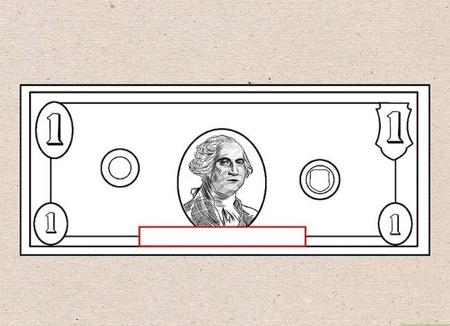 Prent getiteld Teken `n Dollar Bill Stap 4