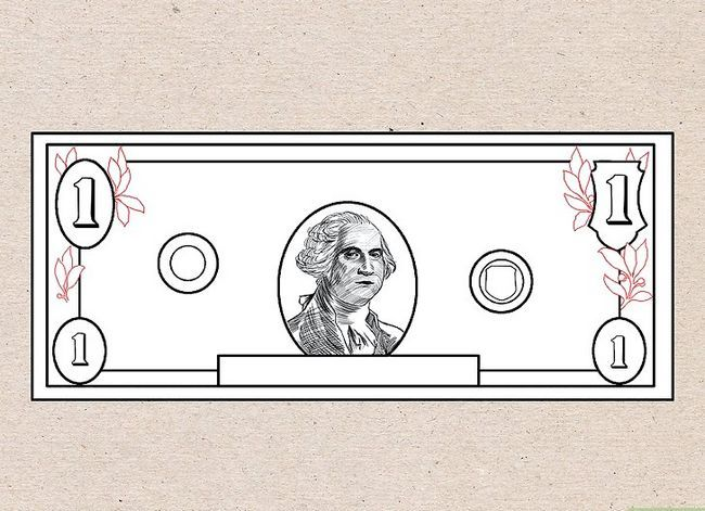 Prent getiteld Teken `n Dollar Bill Stap 5
