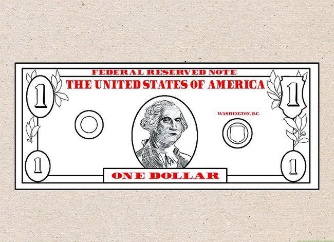 Prent getiteld Teken `n Dollar Bill Stap 6