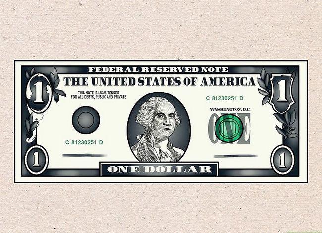 Prent getiteld Teken `n Dollar Bill Stap 7