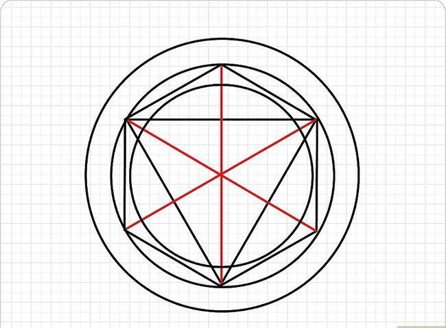 Prent getiteld Teken `n Transmutasie Sirkel Stap 4
