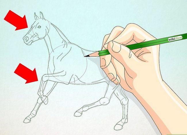 Prent getiteld Teken `n Realistic Looking Horse Stap 4