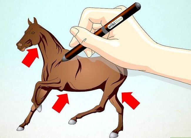 Prent getiteld Teken `n Realistic Looking Horse Stap 6