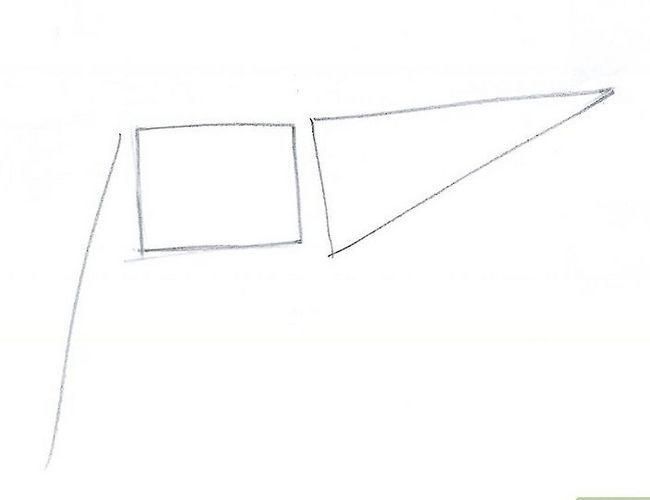 Prent getiteld Driehoek Stap 1