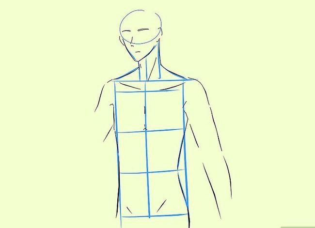 Prent getiteld Teken `n Anime Body Step 13
