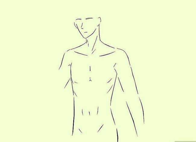 Prent getiteld Teken `n Anime Body Step 14