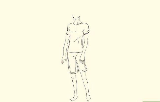 Prent getiteld Teken `n Anime Body Step 24