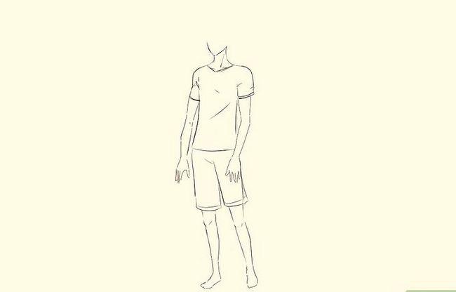 Prent getiteld Teken `n Anime Body Step 25