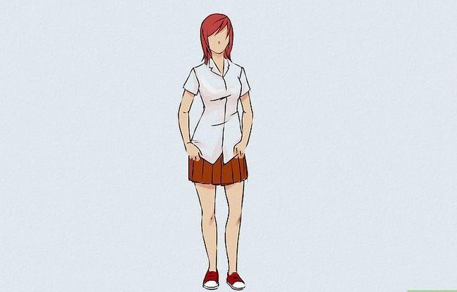Prent getiteld Teken `n Anime Body Step 5