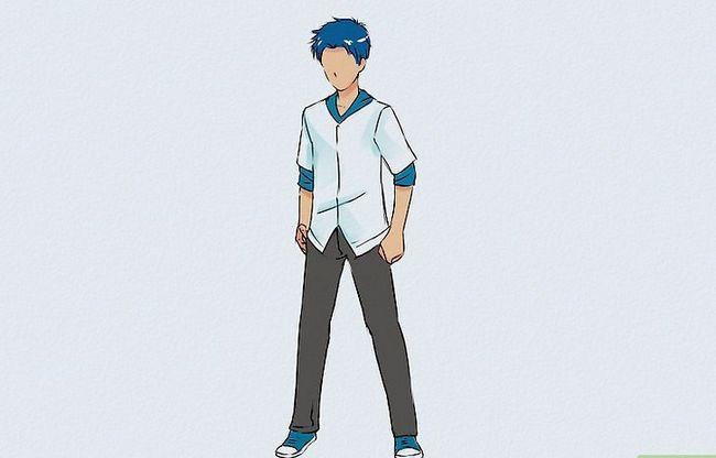 Prent getiteld Teken `n Anime Body Step 10