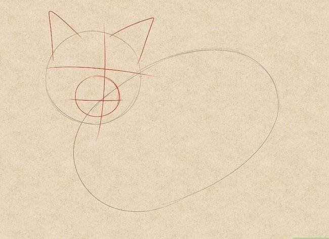 Prent getiteld Teken `n kat Stap 17