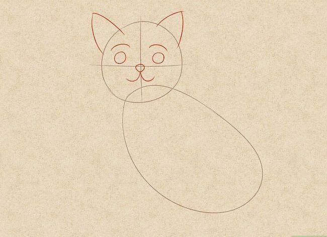 Prent getiteld Teken `n kat Stap 2