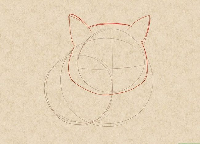 Prent getiteld Teken `n kat Stap 9