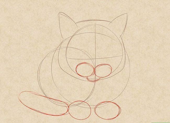 Prent getiteld Teken `n kat Stap 10