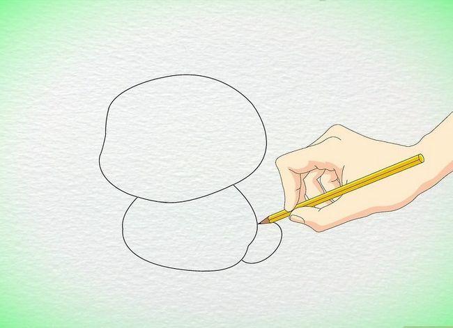Prent getiteld Teken `n Anime Hamster Stap 3