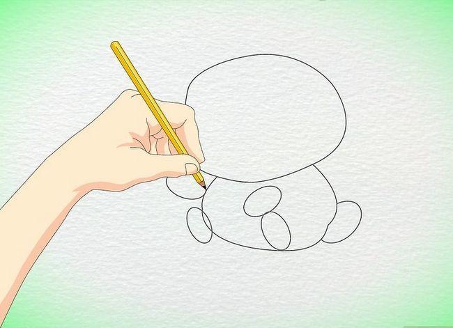 Prent getiteld Teken `n Anime Hamster Stap 4