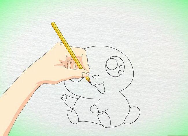 Prent getiteld Teken `n Anime Hamster Stap 6