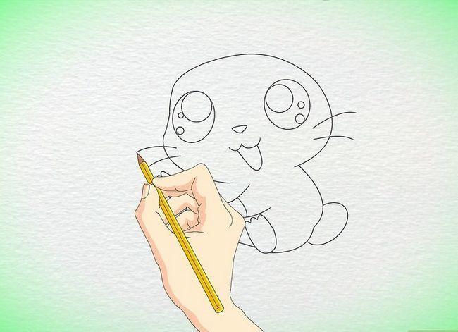 Prent getiteld Teken `n Anime Hamster Stap 7