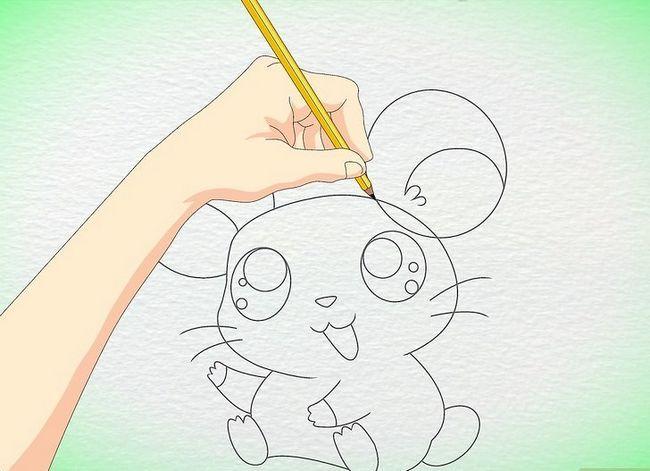Prent getiteld Teken `n Anime Hamster Stap 8
