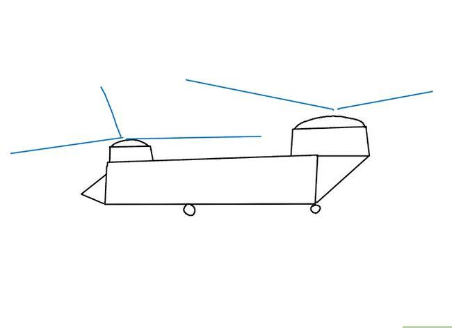 Prent getiteld Teken `n Helikopter Stap 14