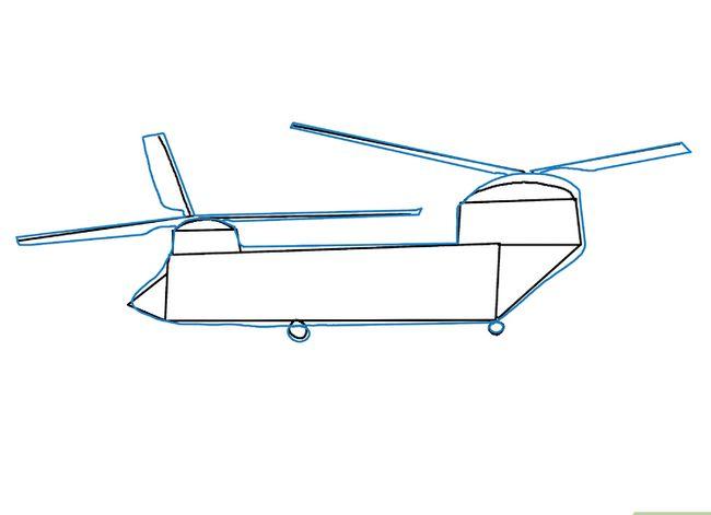 Prent getiteld Teken `n Helikopter Stap 15
