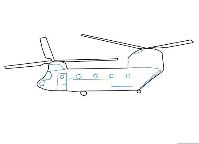 Prent getiteld Teken `n Helikopter Stap 16