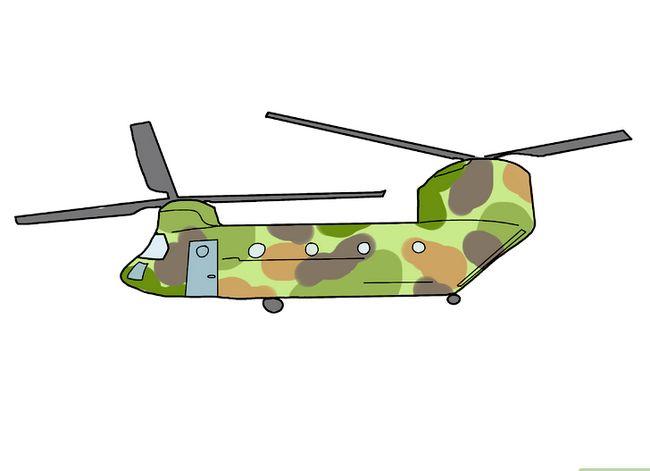 Prent getiteld Teken `n Helikopter Stap 17