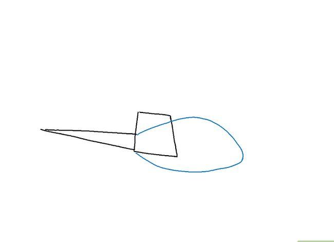 Prent getiteld Teken `n Helikopter Stap 2