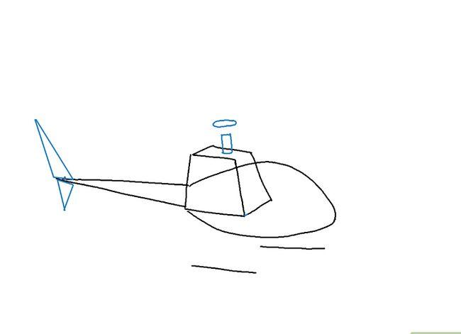 Prent getiteld Teken `n Helikopter Stap 4