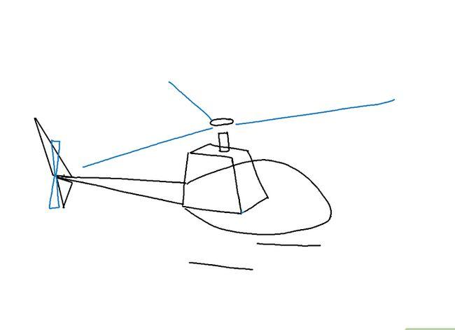 Prent getiteld Teken `n Helikopter Stap 5