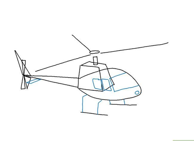 Prent getiteld Teken `n Helikopter Stap 6