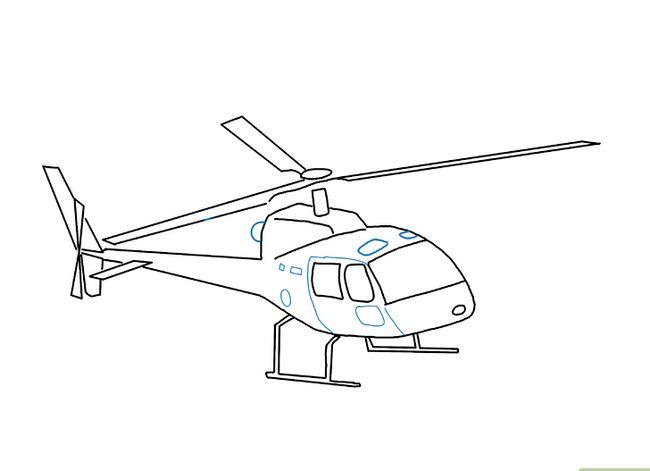 Prent getiteld Teken `n Helikopter Stap 8