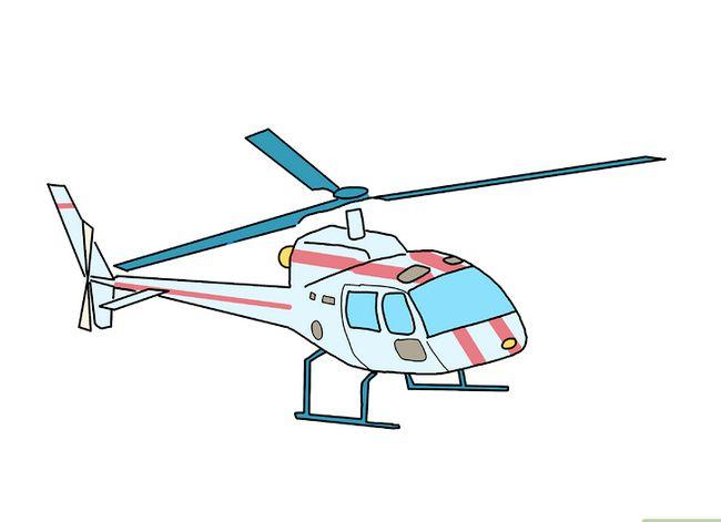 Prent getiteld Teken `n Helikopter Stap 9