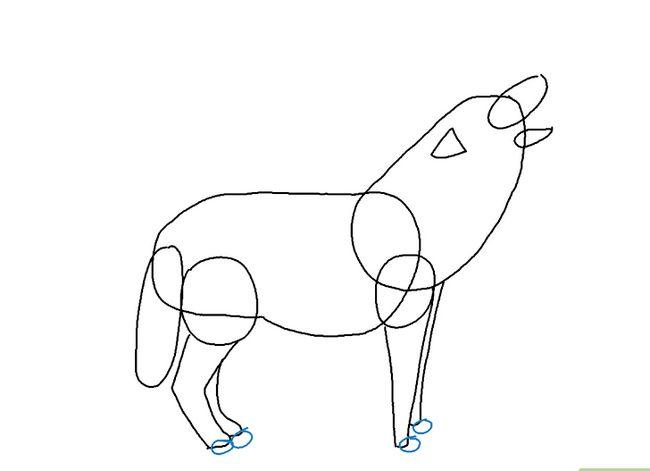Prent getiteld Teken `n Wolf Stap 14
